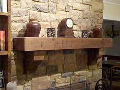 rustic fireplace mantel - Google Search