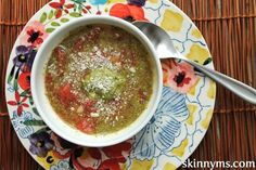 I can't get enough of soup recipes when it gets cold!  This Pesto White Bean Soup is outstanding!
