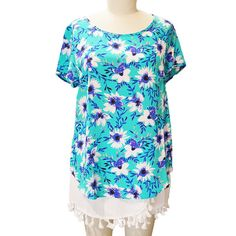 perfect day bouquet top, yumi kim, turquoise