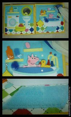 """Развивающие игрушки ручной работы. Развивающая книжка """" Свинка Пеппа"""" №1.. Ольга. Ярмарка Мастеров. Развивашка, пуговицы"""