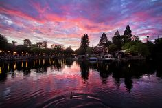 Disneyland — Sunset on the Rivers of America | Flickr - Photo Sharing!