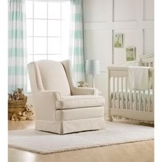 Best Chairs Sutton Swivel Glider - Linen from Sutton - The Bump Baby Registry Catalog