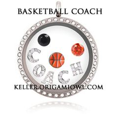 Basketball Coach Origami Owl Locket! This makes a great gift for that special coach.