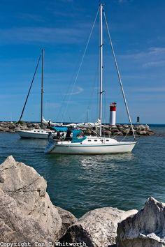 Oakville Bronte Harbour sailboats