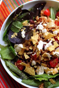 Vegetarian Taco Salad | Joanne Eats Well With Others