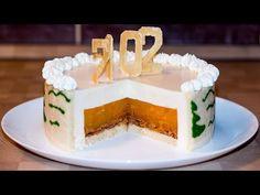 Новогодний торт - Шампанское и мандарины   Вкусная Еда-Да-Да!