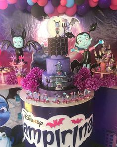 These 17 Fun Vampirina Party Ideas will have you planning the best birthday party in no time. Get ideas for Vampirina cakes, decorations, favors, and more! Third Birthday, 4th Birthday Parties, Happy Birthday Banners, Birthday Party Decorations, Birthday Ideas, Halloween Birthday, Birthdays, Baby, Party Ideas