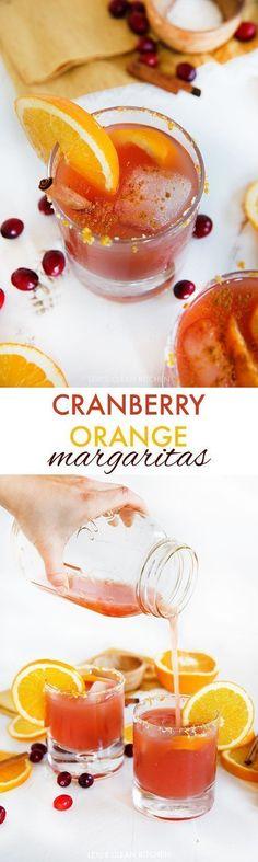 Cranberry Orange Margarita (Gluten-free) | Lexi's Clean Kitchen