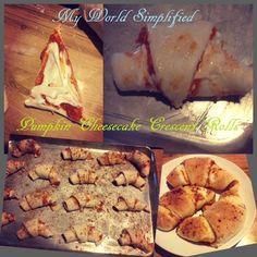 Pumpkin cheesecake crescent rolls recipe