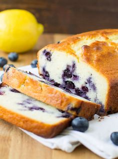 I've updated my favorite Lemon Yogurt Cake recipe with fresh blueberries and rich Greek yogurt. The results are a sweet and simple treat perfect for spring! Don't use frozen blueberries, fresh is the best. Blueberry Yogurt Cake, Lemon Yogurt Cake, Blueberry Bread, Frozen Blueberry Recipes, Blueberry Compote, Fruit Bread, Vanilla Yogurt, Lemon Desserts, Lemon Recipes