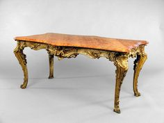 Neapolitan Rococo Table, ca. 18th century. Would be the table where the desserts are located. First seen in Act 1, Scene 5