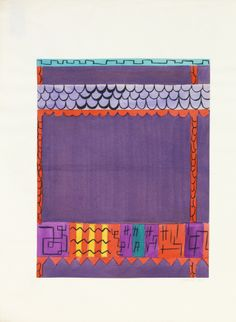 Felice Rix-Ueno, textile design Doublfox, 1924-32. Brush and gouache on paper. Austria. Via Cooper Hewitt  1 + 2