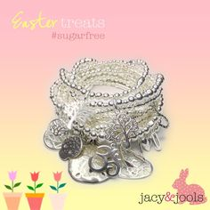Sugar free Easter treats!  Stackable sterling jewellery, inspired by the East, made in Cheshire   www.jacyandjools.co.uk  #cheshire #altrincham #online #wiwt #jotd #ootd #instastyle #instafashion #fashiongram #lookbook #fashionista #fbloggers #fashionbloggers #follow #jewellery #sterlingsilver #silver #charm #stackable #jacyandjools