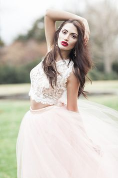Crop top wedding dress | Sleepy Fox Photography | see more on: http://burnettsboards.com/2015/12/scarlet/