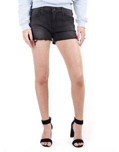 Violate the dress code. These short shorts haveside slits, frayed hems and whiskering at the thighs. Color: Guilty Pleasure 50% Modal, 41% Cotton, 6% Polyeste