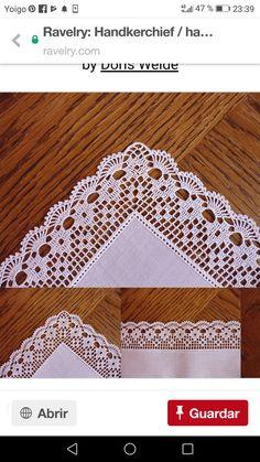 How to Crochet Wave Fan Edging Border Stitch Easter Crochet Patterns, Crochet Edging Patterns, Vintage Crochet Patterns, Crochet Lace Edging, Crochet Borders, Thread Crochet, Crochet Trim, Filet Crochet, Crochet Doilies
