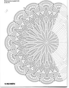 Use this pattern to make a Shaw, crochet on!use sports weight yarn or baby yarn. crochet doily by jest z 3 Poisk This Pin was discovered by Joa jacket, vest, or shawl Motif Mandala Crochet, Crochet Doily Diagram, Crochet Circles, Crochet Doily Patterns, Crochet Round, Crochet Chart, Thread Crochet, Filet Crochet, Crochet Stitches