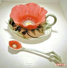 Flower tea cup and saucer