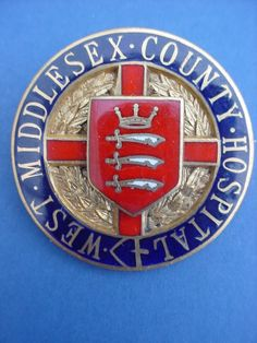 West Middlesex County Hospital Nurses Badge