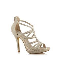 Call It Spring Gold 'Belloli' high sandals- at Debenhams.com