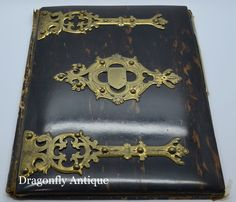 RARE Antique Victorian Coromandel Brass Mounted Desktop Blotter