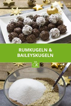 Rumkugeln and Baileyskugeln wonderfully tasty to savor and give – so easy to prepare, these little treats are made! Dessert Sushi, Dessert Bread, Dessert Recipes, Clean Eating Soup, Budget Freezer Meals, Rum Balls, Chocolate Roll, Taiwanese Cuisine, Oreo Truffles