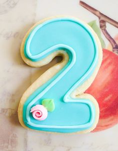 Number cookies decorated letter cookies birthday by CupcakeGems