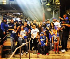 THINK BLUE: Dodgers family win or lose.. Great Times guys 1st of many more this season. . by smokavelihimself