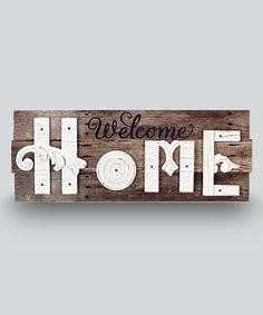 Wood 'Welcome Home' Wall Sign