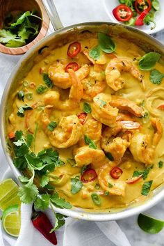 Shrimp In Thai Coconut Sauce | http://foodiecrush.com