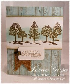 Lovely Birthday is part of Cards - wood Color Background Stampin Up Lovely Birthday Masculine Birthday Cards, Birthday Cards For Men, Handmade Birthday Cards, Masculine Cards, Cards For Men Handmade, Boy Cards, Marianne Design, Stamping Up Cards, Fathers Day Cards