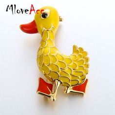 Aliexpress.com : Buy MloveAcc Design Small Yellow Duck Brooches Gold color Cute Animal Enamel Brooches for Kids Harajuku Cartoon Badge Lapel Pins from Reliable duck brooch suppliers on Mloveacc Official Store