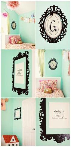 aqua girls room by leanna