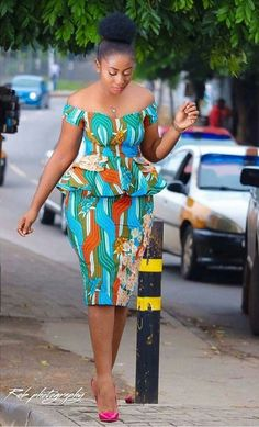 Classy picture collection of Beautiful Ankara Skirt And Blouse Styles These are the most beautiful ankara skirt and blouse trending at the moment. If you must rock anything ankara skirt and blouse styles and design. African Fashion Designers, African Fashion Ankara, Latest African Fashion Dresses, African Print Fashion, Africa Fashion, African Style, Short African Dresses, African Print Dresses, African Prints