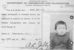 Source: artifact, primary July Canada passes the Chinese Exclusion Act and it Bans all Chinese accept students, merchants, and diplomats from entering Canada. The Chinese race was the only race to be outcasted to this extent. Yellow Peril, Family Separation, Labor Union, Immigration Policy, Canadian History, Primary Sources, Forced Labor, O Canada, New Law