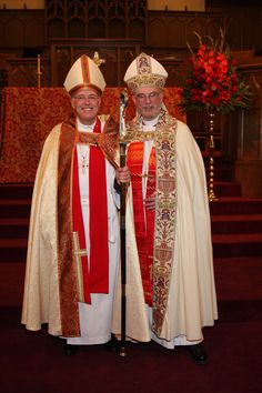 The Rt. Rev. J. Scott Mayer, left, Fifth Bishop for the Diocese of Northwest Texas with the Rt. Rev. Wallis Ohl, Fourth Bishop for the Diocese of Northwest Texas.