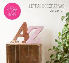 Mar&Vi Creative Studio - España: Small & Low Cost: Diy para hacer letras decorativas en cartón