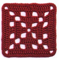 With over 160 free crochet squares patterns to make you will never be bored. Granny squares, flower in a square, circles in a square, lace crochet and more! Free Crochet Square, Crochet Squares Afghan, Crotchet Patterns, Crochet Quilt, Granny Square Crochet Pattern, Crochet Blocks, Crochet Pillow, Crochet Motif, Crochet Designs