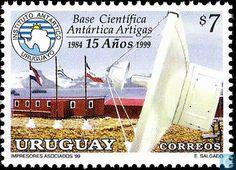 Postage Stamps - Uruguay - 25th Anniversary of Artigas Antarctic Scientific Base