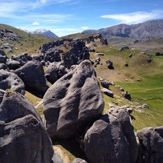 Kura Tawhiti / Castle Hill Conservation Area, Castle Hill, New Zealand — by Grub & Graffiti. Nature's own adventure playground! Spent a happy couple of hours clambering on to the boulders or squeezing through...