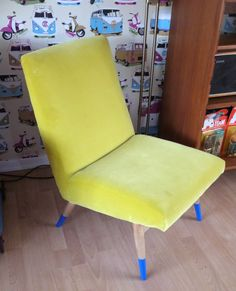 Vintage/ Retro Parker Knoll cocktail lounge chair re-upholstered in lime green in Antiques, Antique Furniture, Chairs | eBay