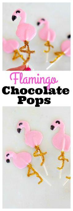 Flamingo Chocolate Pops