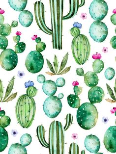 Seamless pattern with high quality hand painted watercolor cactus. - Filofaxing Seamless pattern with high quality hand painted watercolor cactus… Gładki wzór z akwarela Kaktus roślin stockowa ilustracja wektorowa royalty-free Watercolor Clipart, Pastel Watercolor, Watercolor Cactus, Watercolor Design, Portrait Watercolour, Watercolor Journal, Watercolor Wallpaper, Watercolor Background, Cactus Wallpaper