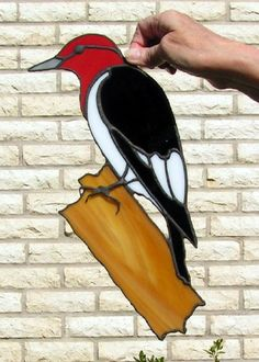 Stained Glass Woodpecker. $50.00, via Etsy.