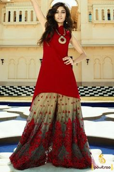 New Designer #Anarkali Style Cotton Red Brown Salwar Suit @ http://www.pavitraa.in/store/anarkali-salwar-suit/?utm_source=pk&utm_medium=pinterestpost&utm_campaign=29March