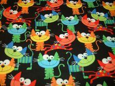 Patchworkstoff , Quilt, silly cat , Katzen, 50x110cm