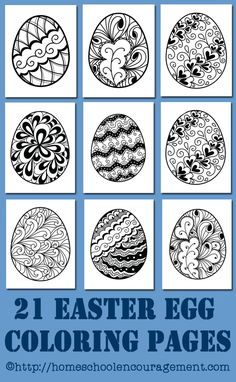 Printables: 21 Easter Egg Coloring Pages Easter Egg Coloring Pages: Free Printables - beautiful easter eggs. Easter crafts for kids.Easter Egg Coloring Pages: Free Printables - beautiful easter eggs. Easter crafts for kids. Easter Art, Hoppy Easter, Easter Crafts For Kids, Easter Ideas, Spring Crafts, Holiday Crafts, Easter Egg Coloring Pages, Easter Activities, Learning Activities
