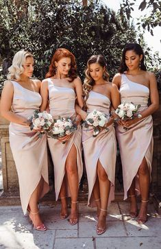 The Willow Wrap Dress Blush. Head online and shop this season's latest styles at White Fox. Tea Length Bridesmaid Dresses, Wedding Bridesmaids, Bridesmaids With Different Dresses, Bride Maid Dresses, Bohemian Bridesmaid Dresses, Bride And Bridesmaid Pictures, Champagne Wedding Colors, Beach Wedding Bridesmaid Dresses, Champagne Bridesmaid Dresses