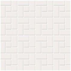 Pastilha de Porcelana - Decor Square Branco Acetinado