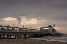 Bournemouth Pier and Beach Dorset, England photograph picture print by AE Photo #dorset #artwork #photography